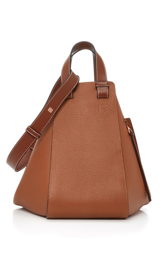 Medium loewe tan hammock leather bag