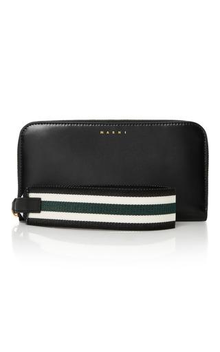 Medium marni black leather wallet