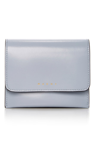 Medium marni blue leather wallet 2