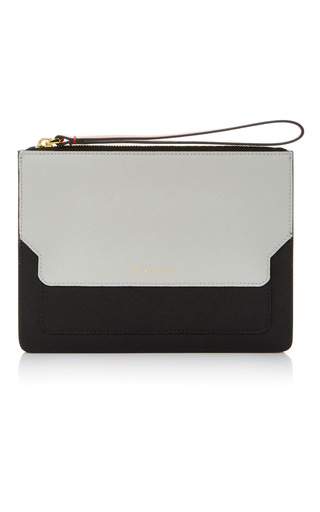 Medium marni black white small pochette