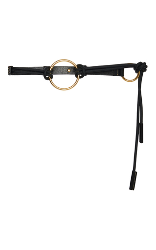 Medium marni black bungee ring belt