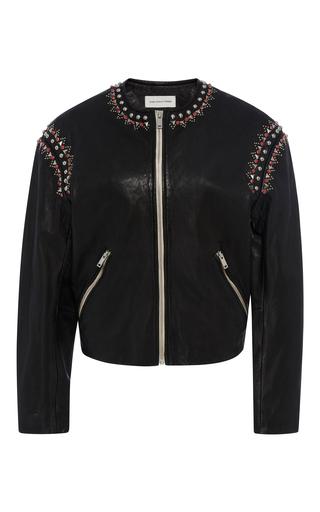 Medium isabel marant etoile black buddy embellished leather jacket