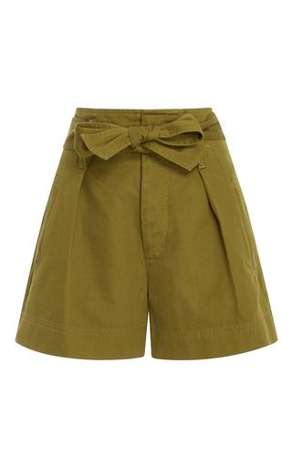 Medium isabel marant etoile green oscar cotton shorts