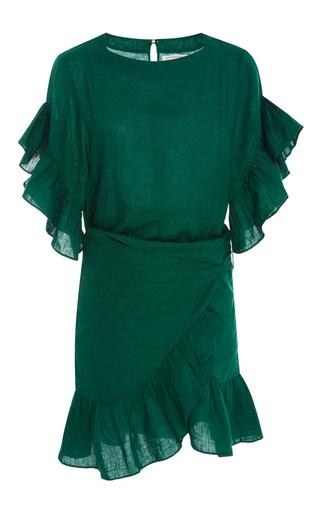 Medium isabel marant etoile green delicia wrap dress