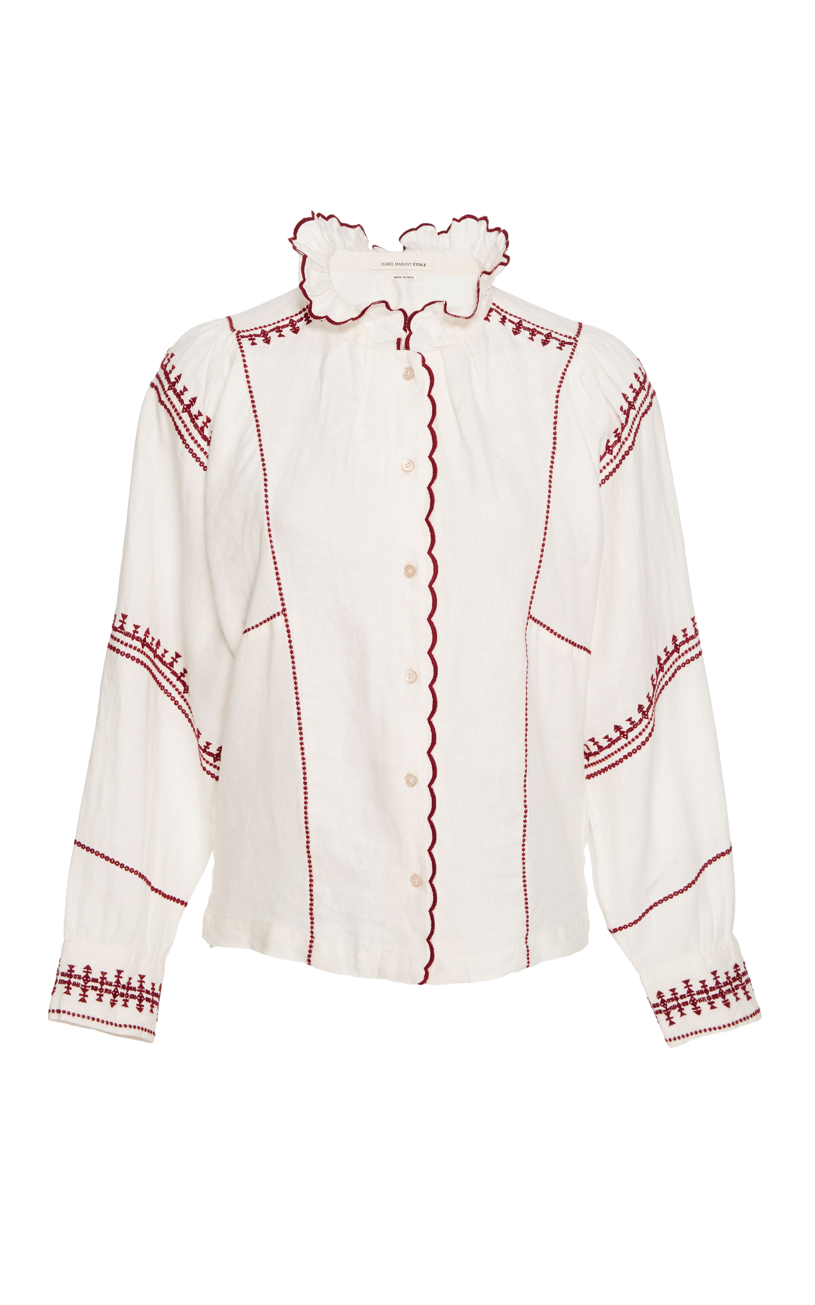 086309c10c51ec Isabel Marant ÉtoileDelphine Ruffle Mock Neck Shirt. CLOSE. Loading