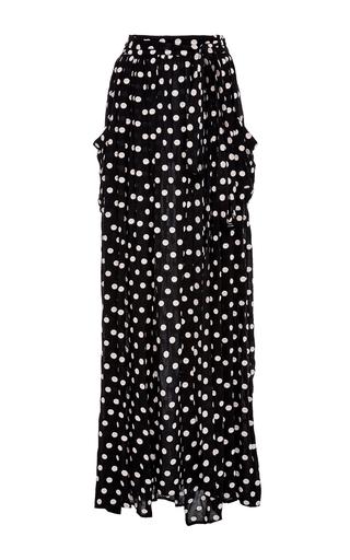 Medium mara hoffman black white polka dot maxi skirt