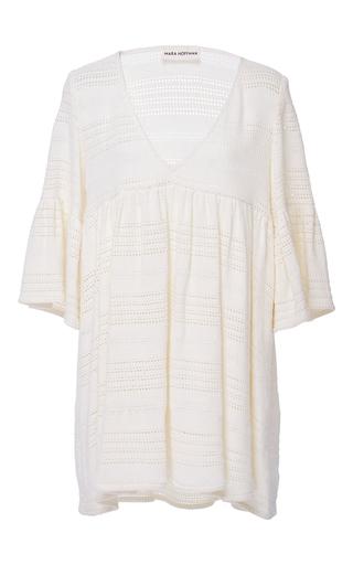 Medium mara hoffman neutral organic cotton crochet mini dress