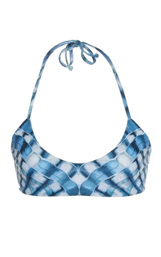 Medium mara hoffman print shell print bikini top