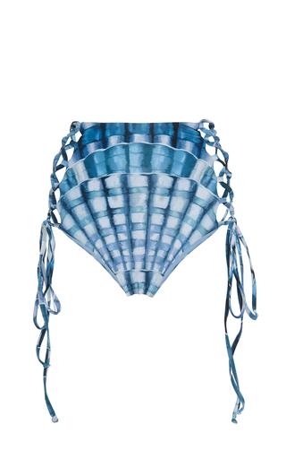 Medium mara hoffman print shell print high waist bikini bottom