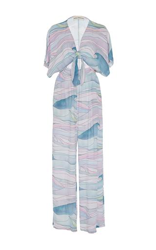 Medium mara hoffman print tie front jumpsuit