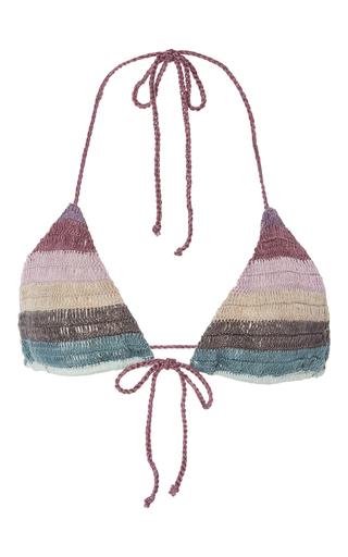 Medium mara hoffman stripe organic crochet bikini top