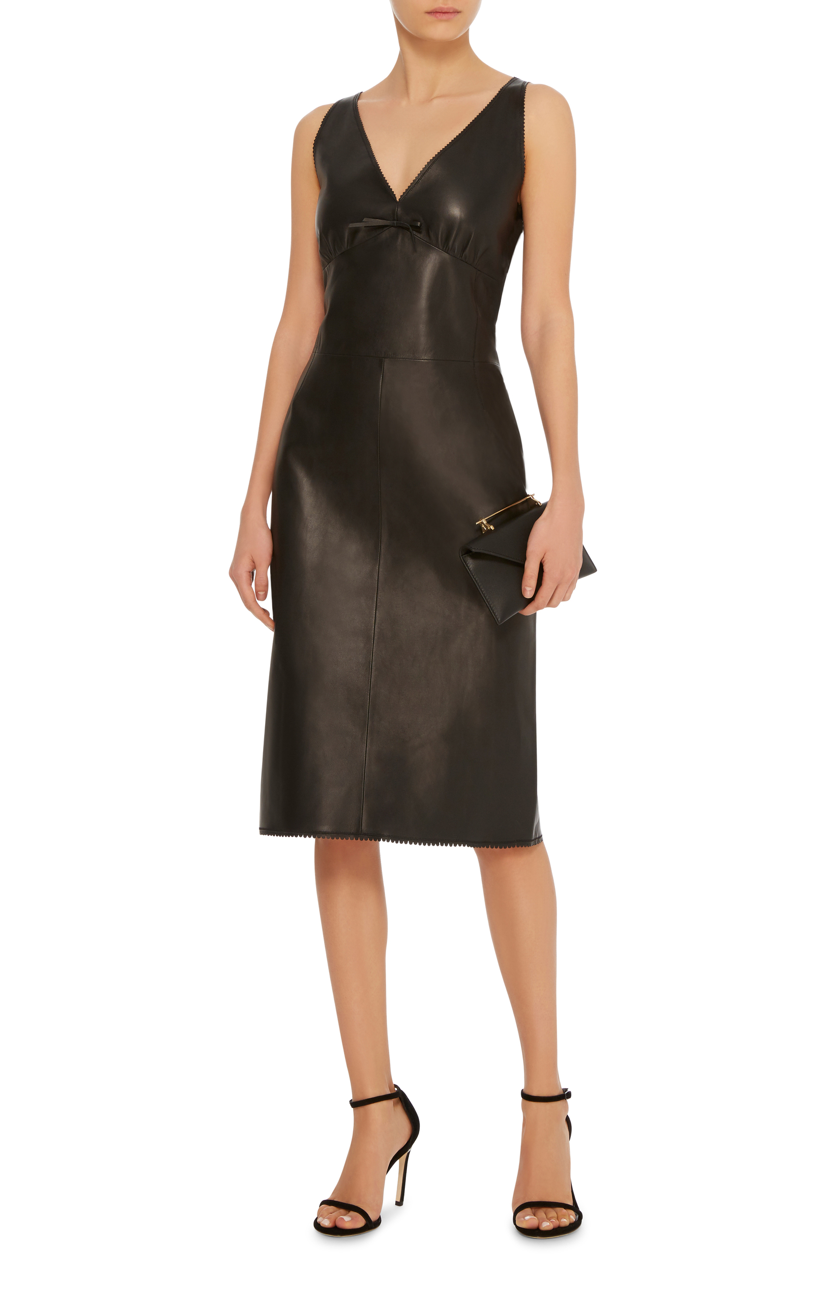 Sleeveless Leather Midi Dress By Loewe Moda Operandi