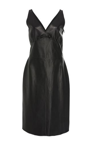 Medium loewe black sweetheart neck leather dress