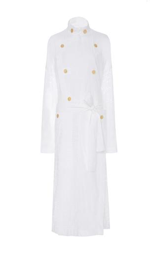 Medium loewe white broderie anglais cotton coat