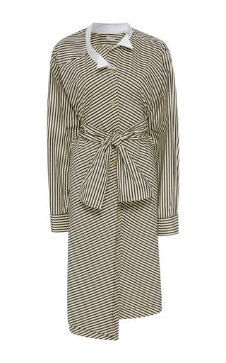 Medium loewe stripe striped cotton poplin dress