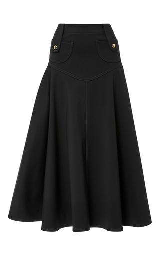 Medium derek lam black high waist flare mini skirt
