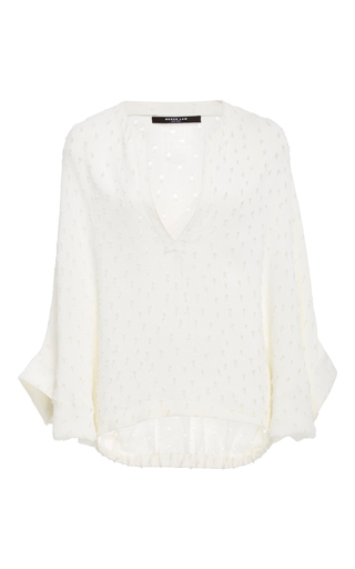 Medium derek lam white drawstring waist blouse