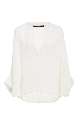 Medium derek lam white drawstring waist blouse