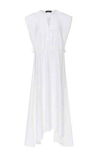 Medium derek lam white drawstring waist dress
