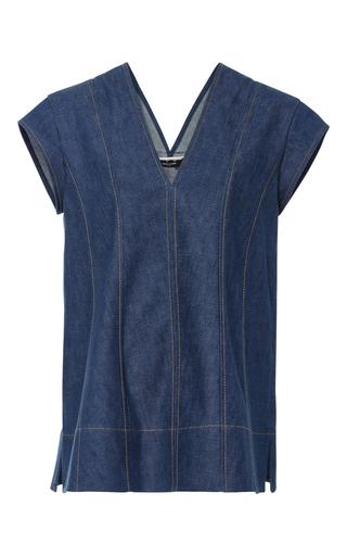 Medium derek lam light wash short sleeve denim tunic