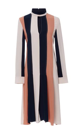 Medium derek lam stripe long sleeve colorblock dress