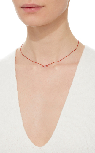 Mini Orange Heart & Wings Necklace by AS29 for Preorder on Moda Operandi