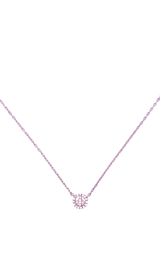 Mini Light Pink Peace & Love Necklace by AS29 for Preorder on Moda Operandi
