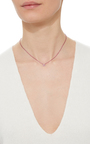 Mini Pink Empty Butterfly Necklace by AS29 for Preorder on Moda Operandi