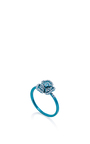 Pave Aqua Flower Ring  by AS29 for Preorder on Moda Operandi