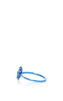 Pave Blue Flower Mini Ring by AS29 for Preorder on Moda Operandi