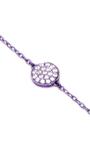 Mini Purple Full Round Chain Bracelet by AS29 for Preorder on Moda Operandi