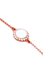Mini Orange Round Mother Of Pearl Chain Bracelet by AS29 for Preorder on Moda Operandi