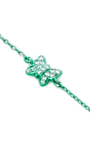 Mini Green Butterfly Chain Bracelet by AS29 for Preorder on Moda Operandi