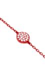 Mini Red Full Round Chain Bracelet by AS29 for Preorder on Moda Operandi