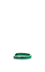Lana Xs Green 1 Line Pinky Ring by AS29 for Preorder on Moda Operandi