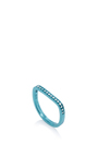 Lana Xs Aqua 1 Line Pinky Ring by AS29 for Preorder on Moda Operandi