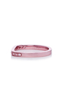 Lana Xs Light Pink 1 Line Pinky Ring by AS29 for Preorder on Moda Operandi