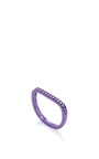 Lana Xs Purple 1 Line Pinky Ring by AS29 for Preorder on Moda Operandi