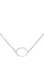 La Collection Rose Gold Oval Diamond Single Chain Choker by AS29 for Preorder on Moda Operandi