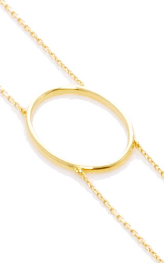 La Collection Gold Oval Double Chain Choker by AS29 for Preorder on Moda Operandi