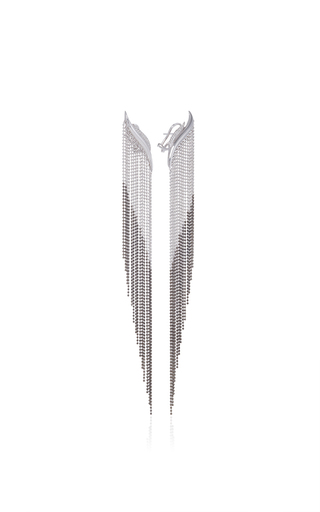 Golda S Double Diamond Earrings With Chains by AS29 for Preorder on Moda Operandi