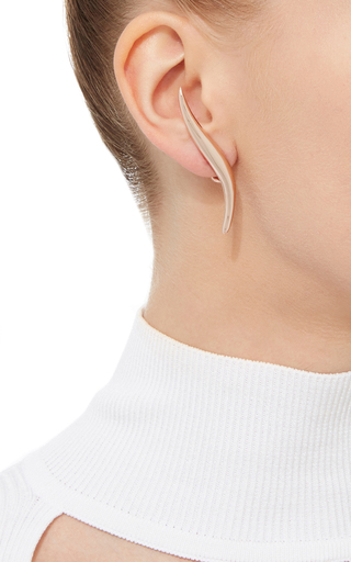 Golda Rose Gold S Shape Earrings With Clip by AS29 for Preorder on Moda Operandi