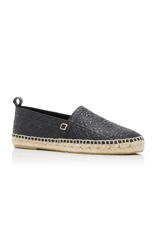 Medium loewe black all over anagram espadrilles