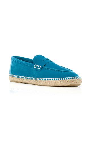 Medium loewe turquoise suede espadrille loafers