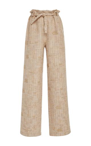 Medium christina economou khaki mack high waist woven pants