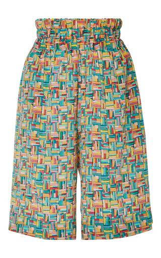 Medium christina economou print rope print bermuda shorts