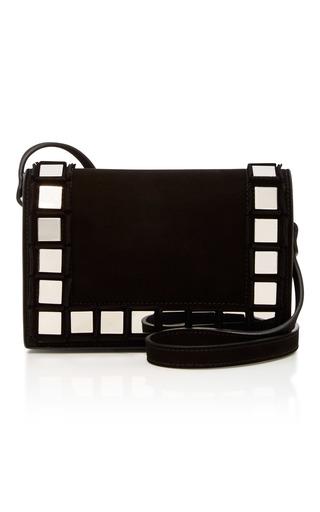 Medium tomasini black anja embellished suede shoulder bag