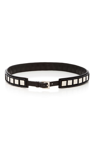 Medium tomasini black embellished leather belt