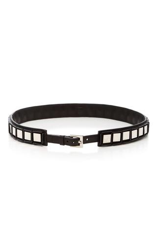 Medium tomasini black embellished leather belt