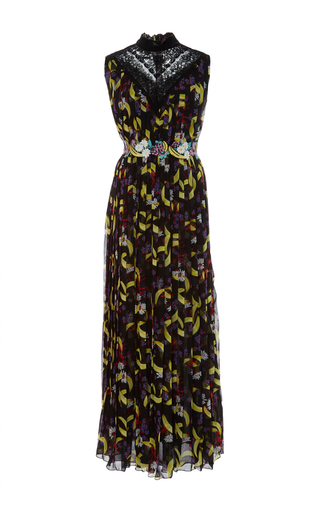 Medium giamba print banana print sleeveless dress
